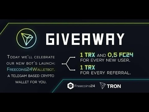 Airdrop News:  Freecoins24 Estimated  value 1 TRX + 0.5 FC24 6