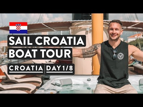 IS THIS REAL!? OUR CRUISE BOAT TOUR | Sail Croatia Cruise Explorer | Day 1 of 8