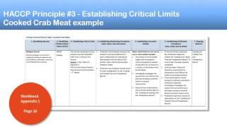 Part 5. HACCP Principle 3:   Establishing Critical Limits