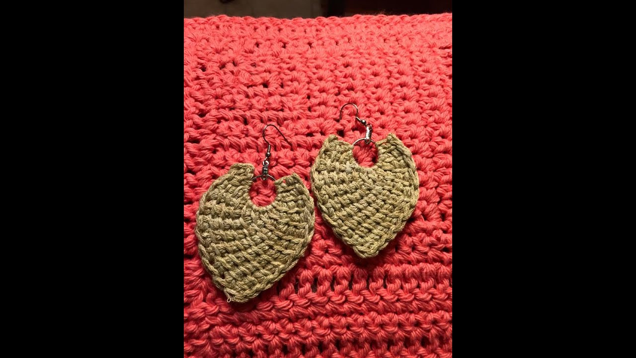 Tunisian Crochet Earring Directions Tutorial Youtube