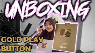 UNBOXING GOLD PLAY BUTTON - ASLII NO CONFIG 😍