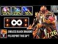WTF -60% CD ENDLESS BLACK DRAGON DK vs Magic Nothing Can Stop Him Crazy Imba Hero 7.26 Dota 2