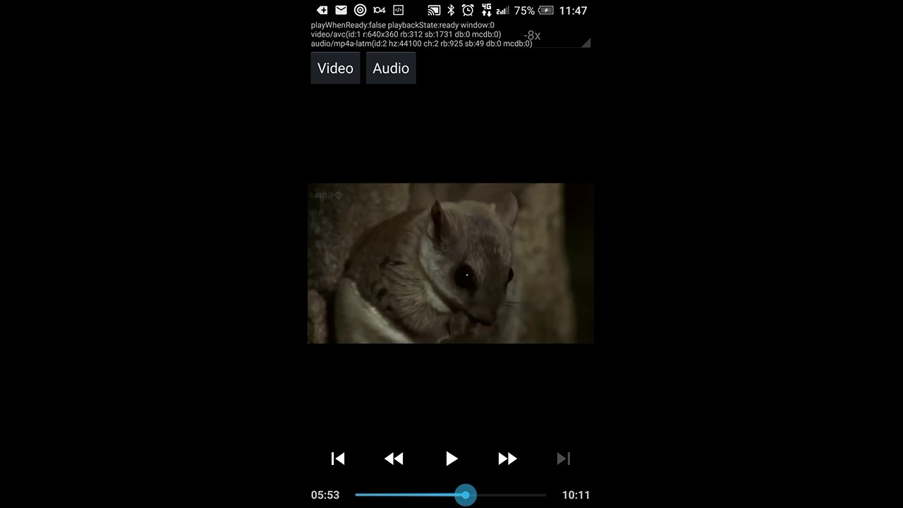 EXOPlayer V2 - trick playback high speed X8 demo in reverse direction