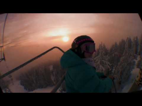 Cypress Mountain Night Riding with Kelsey