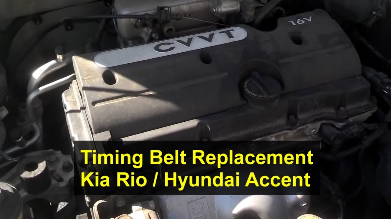 How To Replace The Timing Belt Replacement KIA Rio Hyundai Accent. How To Replace The Timing Belt Replacement KIA Rio Hyundai Accent 16l I4 16 Valve Votd Youtube. KIA. 2005 KIA Rio Engine Diagram Of A Head Gasket At Scoala.co