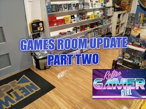 Games Room Update Part Two Progress | Retro Gamer Girl