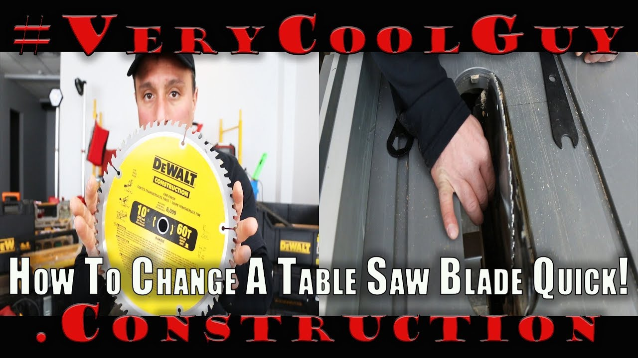 How to change a dewalt table saw blade youtube how to change a dewalt table saw blade greentooth Choice Image