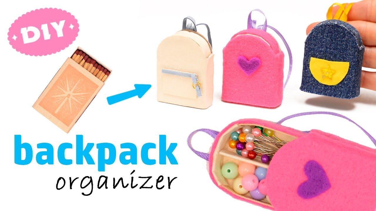 03aa133cfa1f Diy Miniature 🎒 Backpack 🎒 Organizer With Matchbox