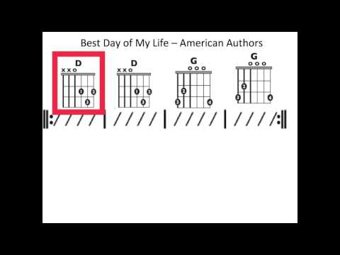 Best Day of My Life - Moving chord chart