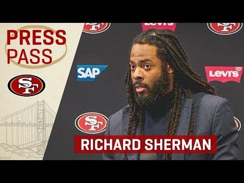 Richard Sherman Talks Reuben Foster Release | 49ers Press Conference