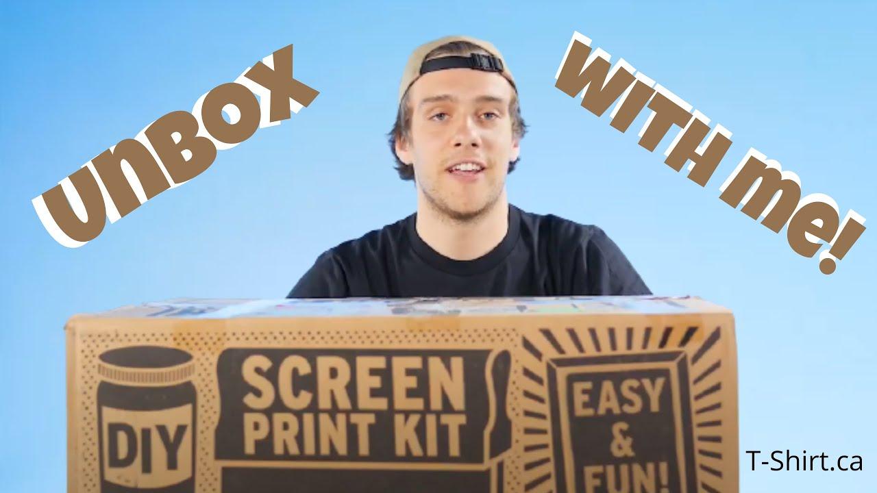 DIY Screen Print Kit Unboxing! | T-shirt ca
