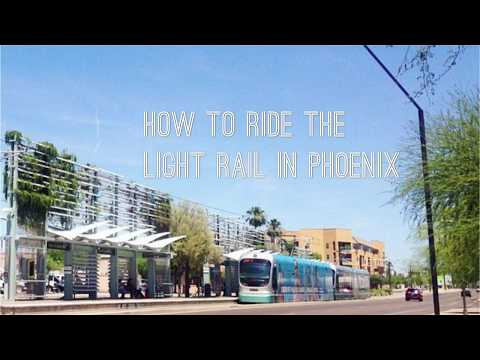 How to ride the light rail in Phoenix
