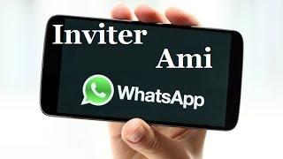 comment inviter un ami sur whatsapp