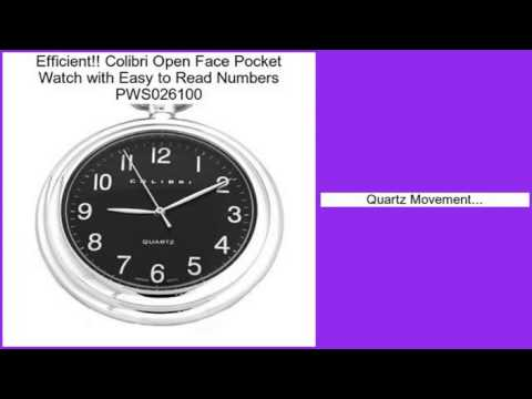 Colibri Open Face Pocket Watch With Easy To Read Numbers PWS026100 Review