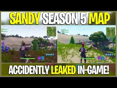 *NEW* Fortnite: SEASON 5 SANDY MAP ACCIDENTALLY LEAKED! | (Epic Slipped)