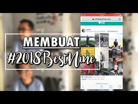 CARA MEMBUAT BEST NINE 2018 INSTAGRAM - MUDAH (Untuk IPhone/Android)