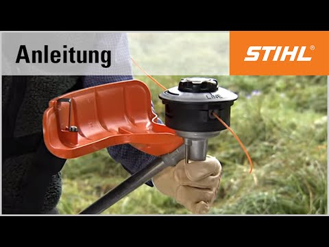 die montage des m hkopf stihl autocut c 25 2 youtube. Black Bedroom Furniture Sets. Home Design Ideas
