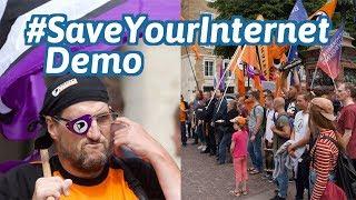 Demo gegen Uploadfilter und Linksteuer (Stuttgart): SaveYourInternet, StopUploadFilters