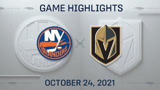 NHL Highlights   Islanders vs. Golden Knights - Oct. 24, 2021