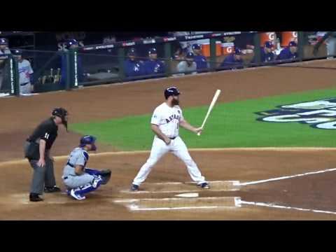 Evan Gattis and Josh Reddick at bat...World Series Game 3...Astros vs. Dodgers...10/27/17