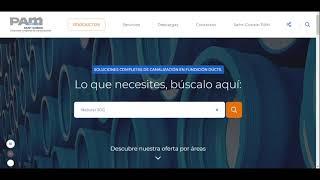 Paseo virtual por nuestra nueva web pamline.es