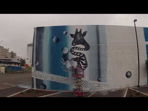 Giraffing Around Mural