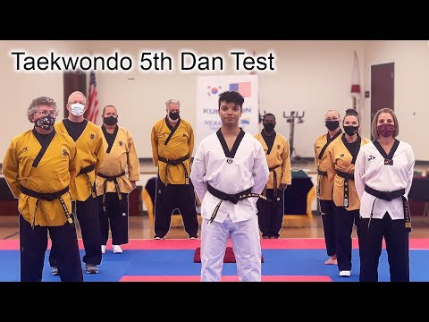 I TESTED FOR MY 5TH DAN BLACK BELT| Taekwondo Vlog