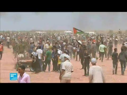 أكثر من 25 قتيلا فلسطينيا ومئات الجرحى في مواجهات مع الجيش الإسرائيلي  - 15:22-2018 / 5 / 14