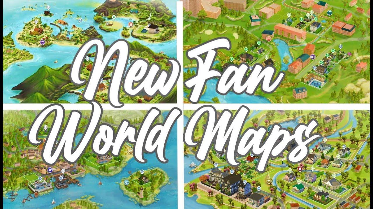 NEW SIMS 4 WORLDS!! // 12 BEAUTIFUL FAN MADE MAPS MOD ...