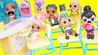 LOL Surprise Dolls School Bully Cheats on Test with Lils Fuzzy Pets   Toy Egg Videos