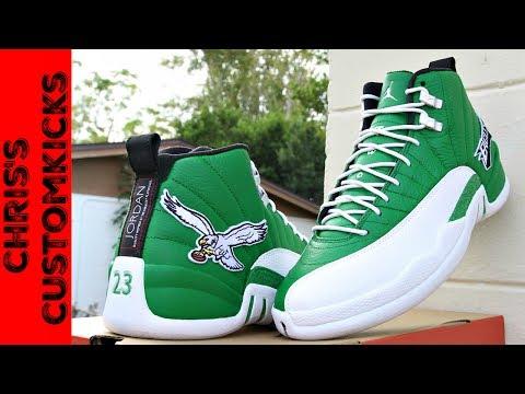 e3c9f2b89dab3 Jordan 12 Eagles Custom FULL TUTORIAL ( They Glow!! ) - YouTube
