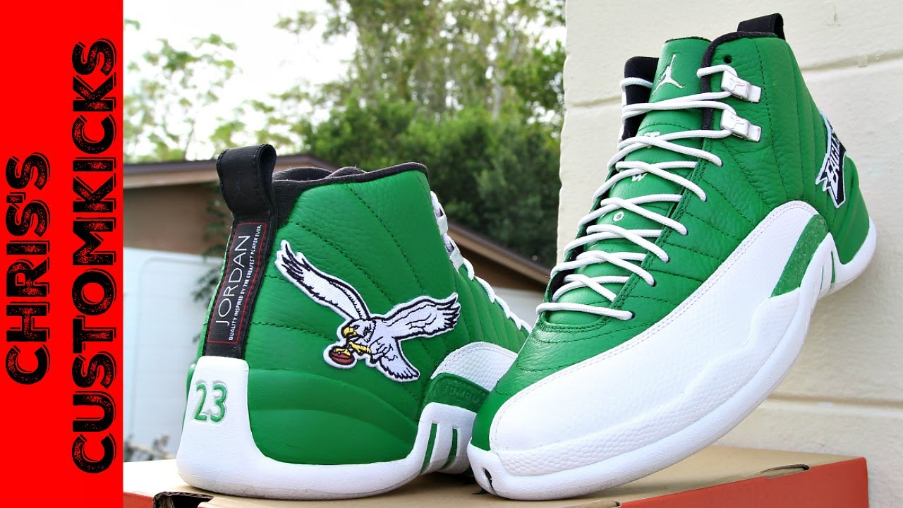 Jordan 12 Eagles Custom FULL TUTORIAL They Glow