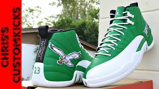 Jordan 12 Eagles Custom FULL TUTORIAL ( They Glow!! )
