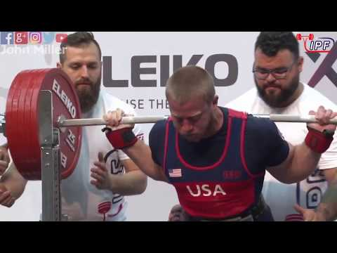 David Woolson - 3rd Place 830kg Total - 93kg Class 2019 IPF Classic Worlds