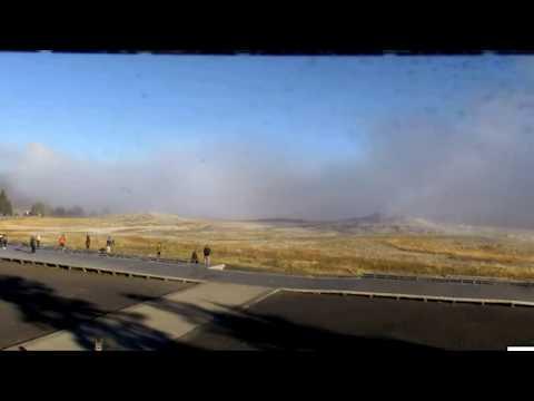 ALERT FROM Yellowstone HUGE DARK Steam/Smoke! Watch Full Screen! 9/27/16