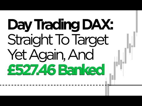 Day Trading DAX: Straight To Target Yet Again (And £527.46 Banked)