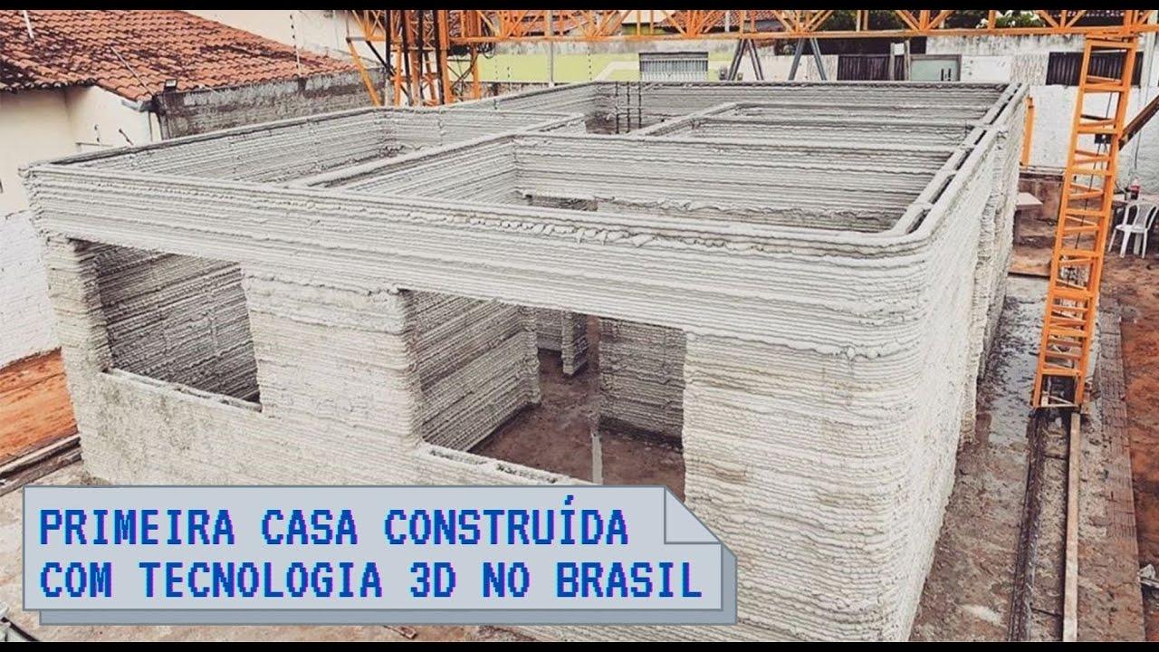 Primeira casa construída com impressão 3D no Brasil