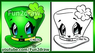 How to Draw Easy Things - St Patricks Day Clover Hat - Fun2draw