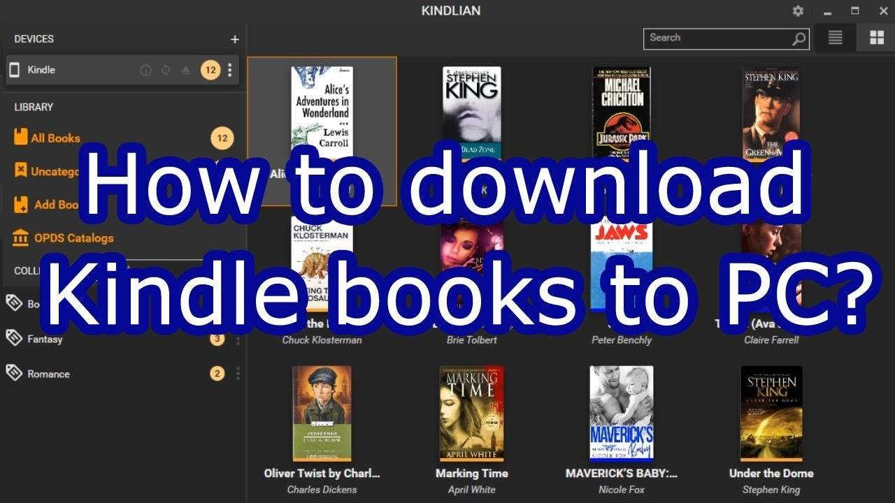 How to download Kindle books to PC