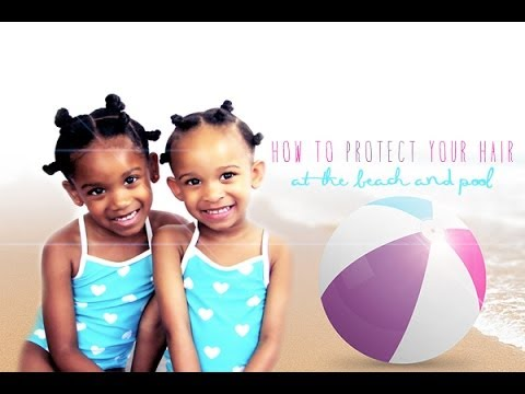 Natural Hair How To Protect Your Hair From The Pool Or Beach Youtube