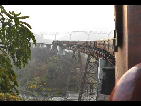 The Spectacular Dyang Bridge - Agartala-Lumding Exp. (Feb. 28, 2013)