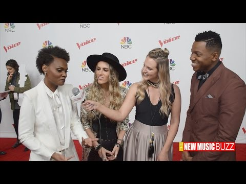 THE VOICE  TEAM ALICIA BACKSTAGE TOP 12 s Chris Blue, Vanessa Furguson and Stephanie Rice
