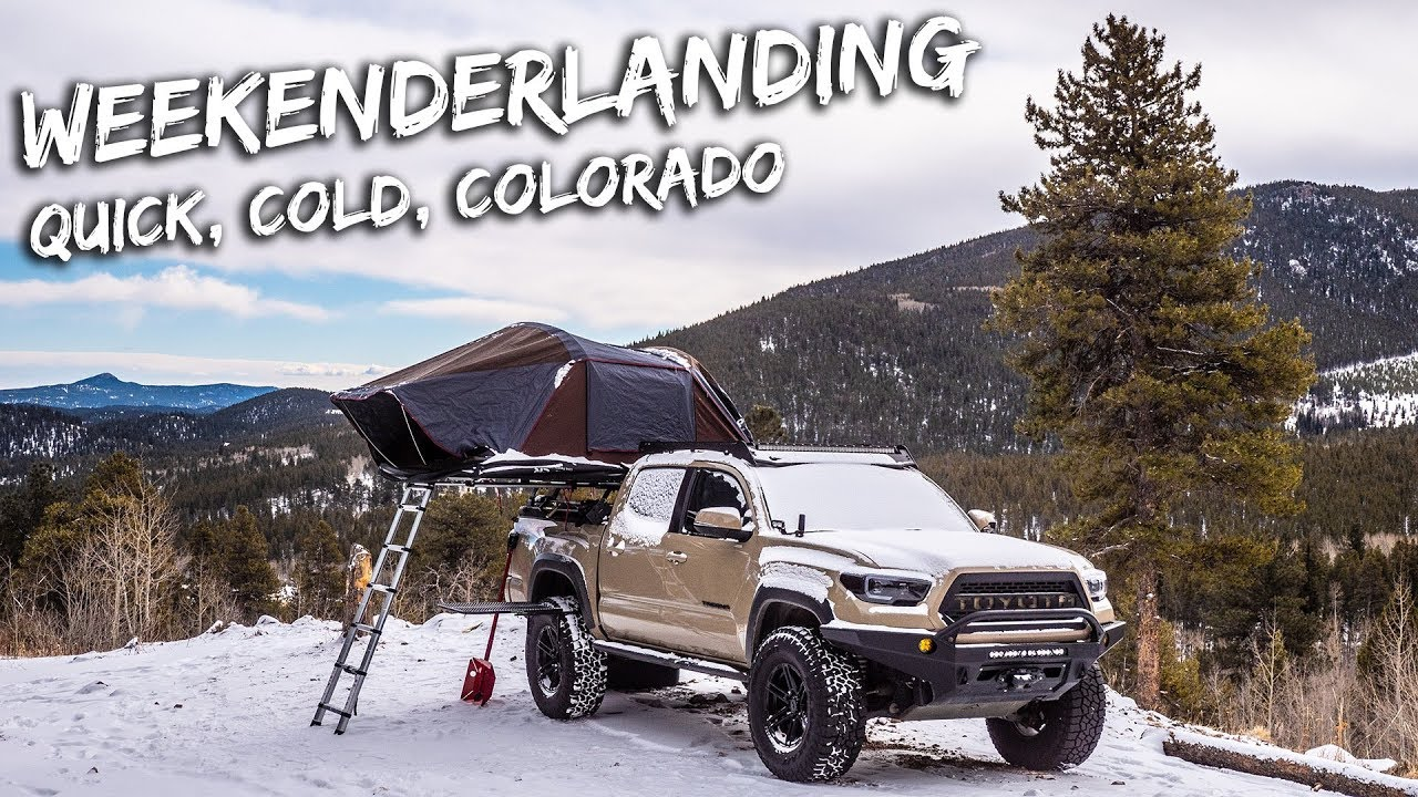 Weekenderlander Ep 4 Winter Snowy Tacoma Ikamper X Cover Rooftop Tent Tacoma Tent Roof Top Tent Truck Camping
