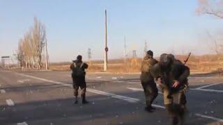 Бой ополченцы в окопах на переловой 01 10 Донецк Украина Донбасс