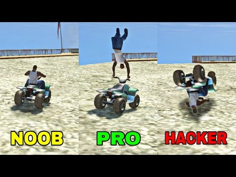 Noob Vs PRO Vs HACKER en Gta San Andreas !