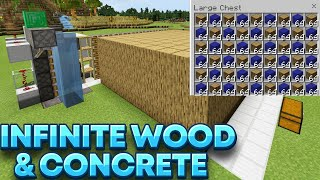 Tree Farm Minecraft Bedrock 1.16 + Concrete Converter Minecraft Bedrock 1.16 Simple and Easy