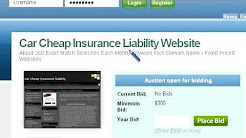 Cheap Liability Car Insurance Website For Sale