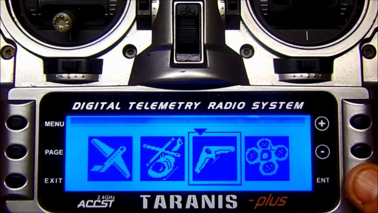 TELEMETRY SET UP FrSky TARANIS PLUS 2 0 vs 2 1