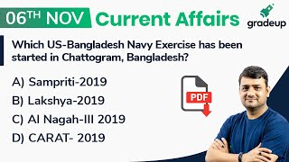 6th November Current Affairs 2019 | Daily Current Affairs for all Banking Exams
