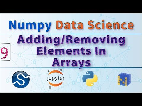 Python Data Science, How to Add and Remove Elements From Arrays